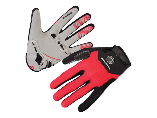 Endura Singletrack Plus Gloves red